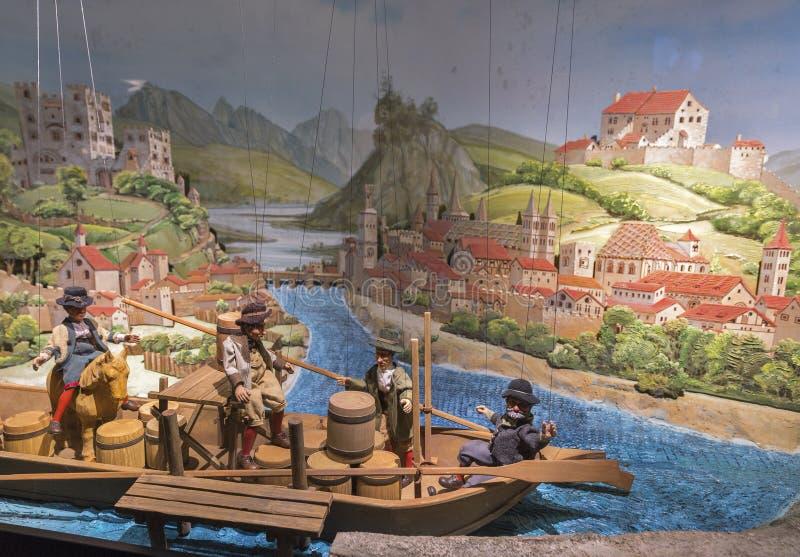 Kukiełkowa barokowa instalacja w Hohensalzburg fortecy Salzburg, Austria zdjęcie royalty free
