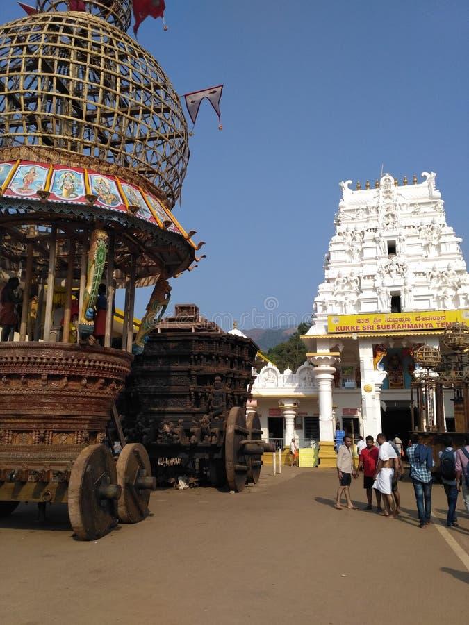 Kukkesubrahmanya tempel arkivbilder