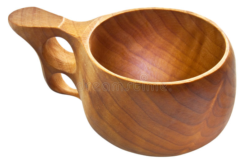 Download Kuksa - Traditional Finnish Wooden Cup Stock Image - Image: 11370259