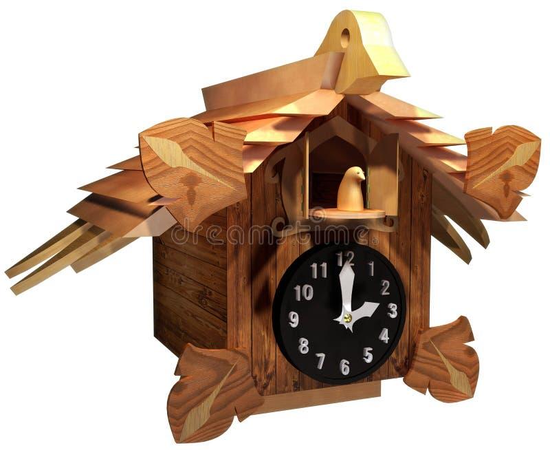 Kukułka zegar royalty ilustracja