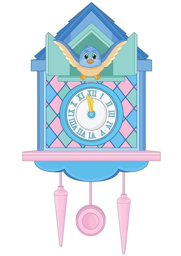 Kukułka zegar ilustracja wektor