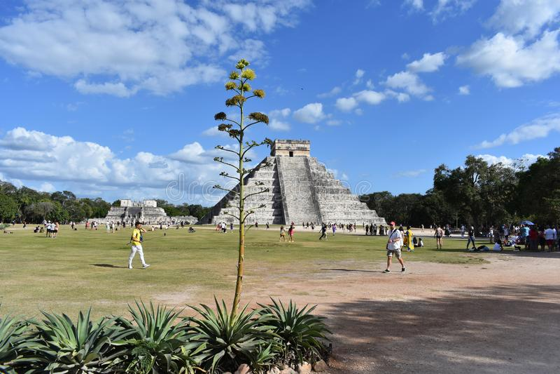 kukulkan πυραμίδα στοκ εικόνα