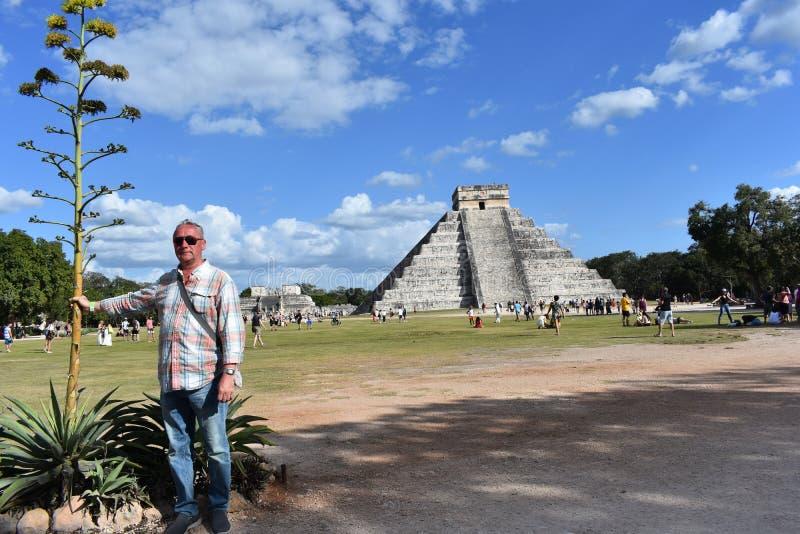 kukulkan πυραμίδα στοκ εικόνες με δικαίωμα ελεύθερης χρήσης