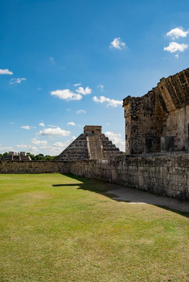 Kukulkan pyramid in Chichen Itza. This is one of the most important buildings in the ancient city of Chichen-Itza. Kukulkan pyramid in Chichen Itza. This is one stock photography