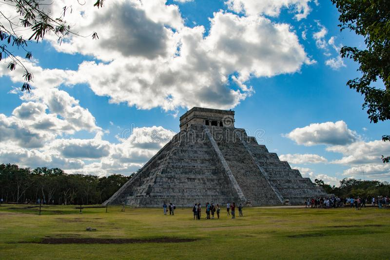 Kukulkan pyramid in Chichen Itza. This is one of the most important buildings in the ancient city of Chichen-Itza. Kukulkan pyramid in Chichen Itza. This is one royalty free stock photography