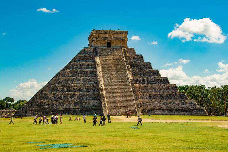Kukulkan pyramid in Chichen Itza. This is one of the most important buildings in the ancient city of Chichen-Itza. Kukulkan pyramid in Chichen Itza. This is one stock photo