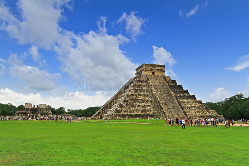 Kukulkan Pyramid, One Of 7 New Wonders Stock Images