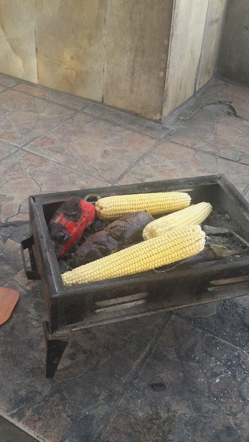 Kukurudza i ogień obraz royalty free