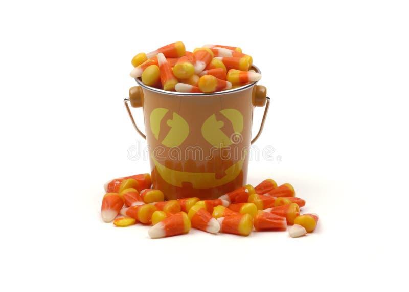 kukurydza cukierków Halloween wiadro obraz royalty free