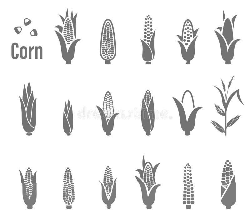 Kukurydzane ikony również zwrócić corel ilustracji wektora ilustracja wektor