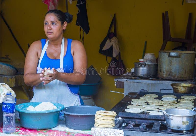 Kukurydzanego tortilla ciasta fabryka obraz royalty free