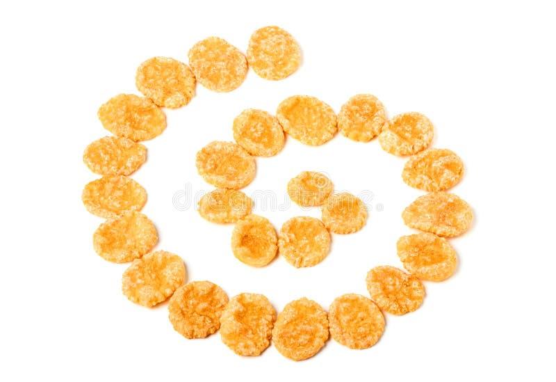 Download Kukurydzani Płatki W Postaci Spirali Zdjęcie Stock - Obraz złożonej z jedzenie, grainer: 65225974