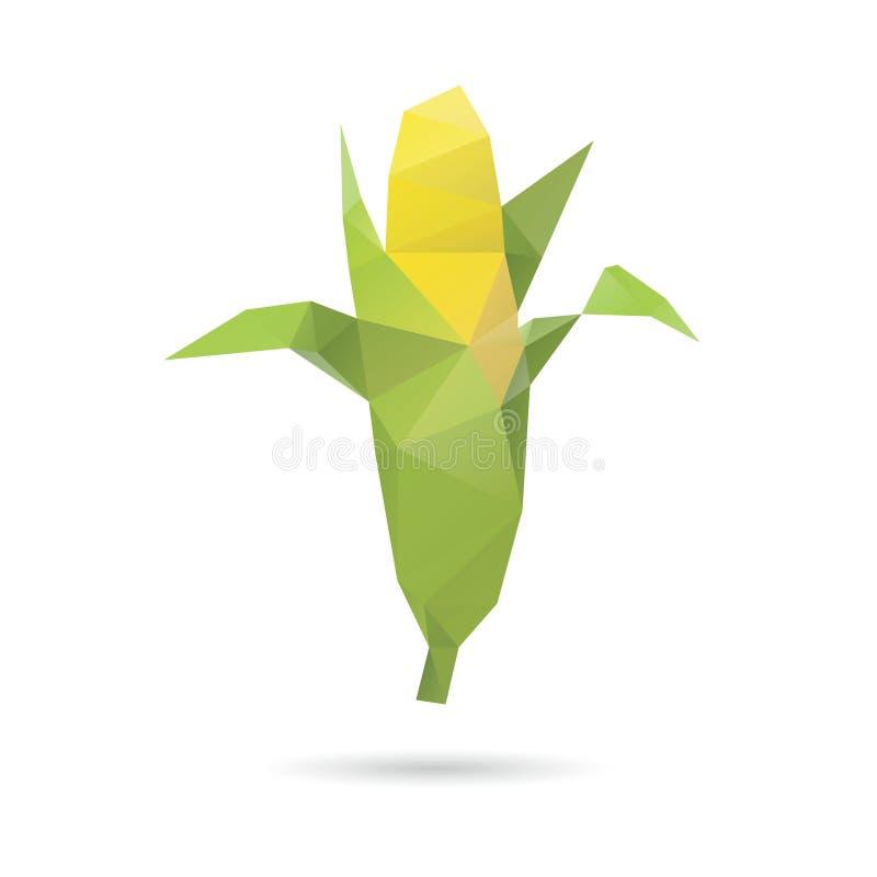 Kukurydzany abstrakt odizolowywający na biali tła royalty ilustracja