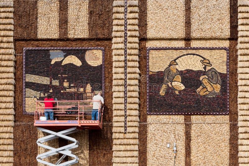 Kukurydzany pałac utrzymanie zdjęcie royalty free