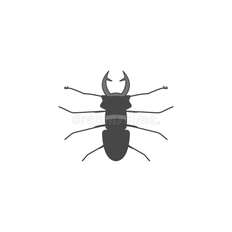 kulör översiktssymbol för utskjutande hjortar En av samlingssymbolerna för websites, rengöringsdukdesign, mobil app stock illustrationer