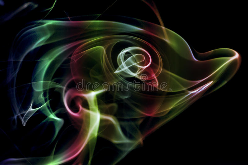 Kulör abstrakt rök arkivbilder