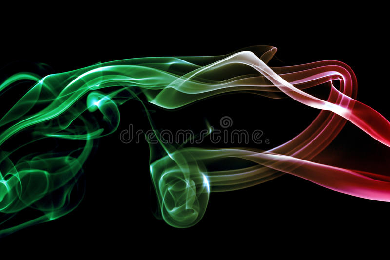 Kulör abstrakt rök arkivfoto