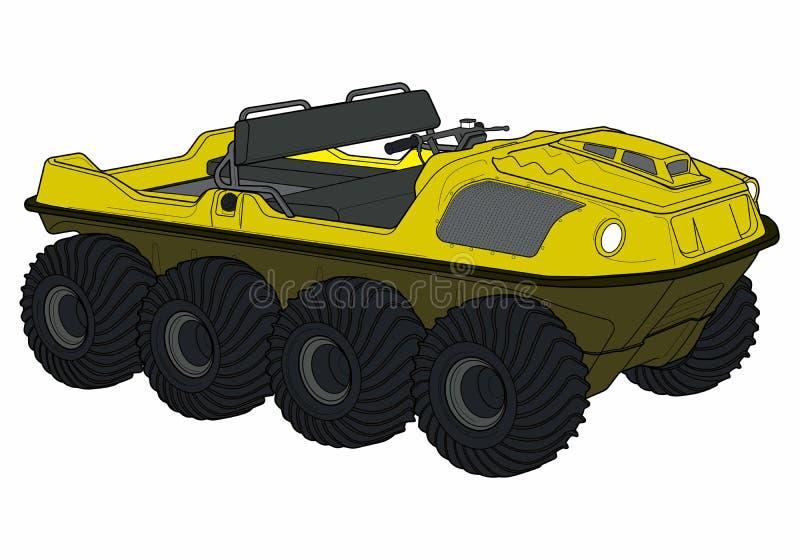 Kulör ATV-vektorillustration royaltyfri bild