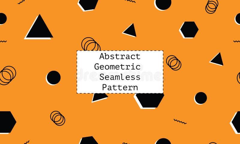 Kulör bakgrund med minsta design och geometriska former Sömlös modell för Minimalistic stil vektor illustrationer