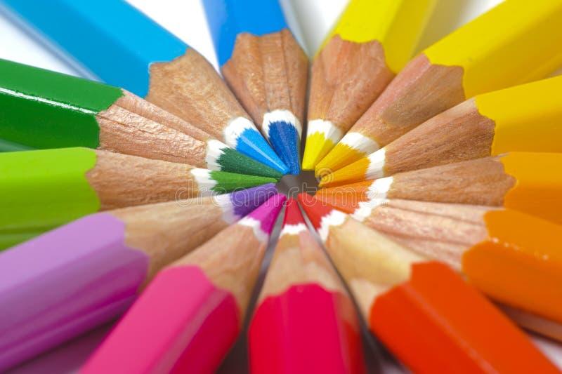 kulör blyertspenna royaltyfri foto