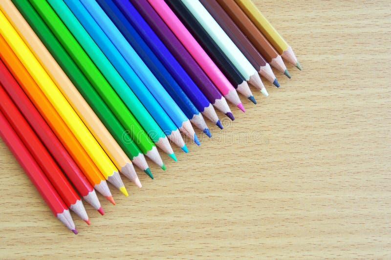 Kulör blyertspenna arkivbilder