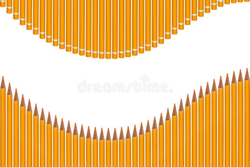 kulör crayonswave royaltyfri bild