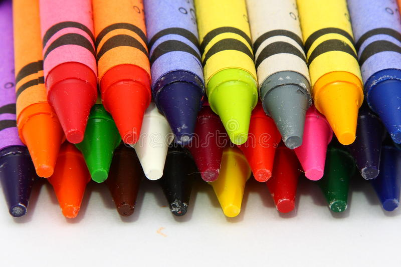 kulör crayonswax royaltyfri foto
