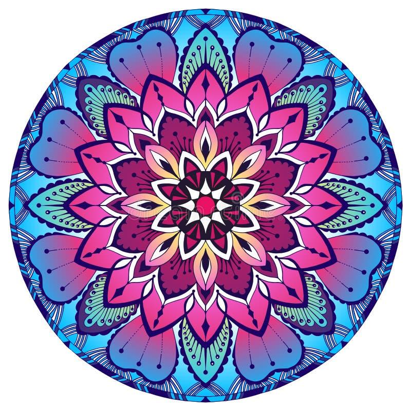 Kulör dekorativ Mandala Österlänningen mönstrar vektor illustrationer