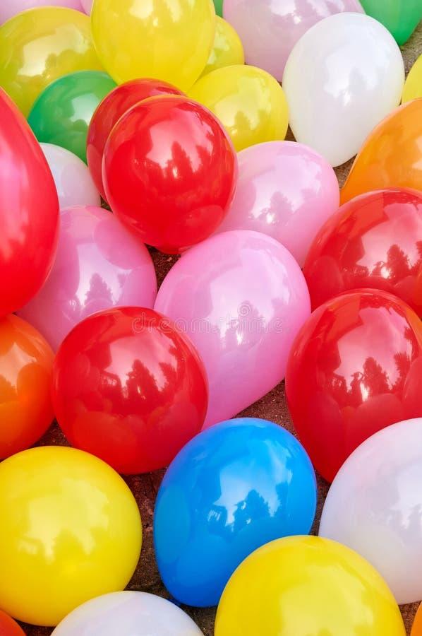 kulör deltagare för ballonger royaltyfri foto