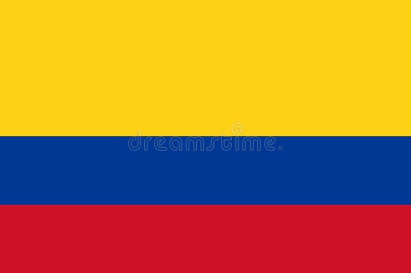 Kulör flagga av Colombia royaltyfri illustrationer