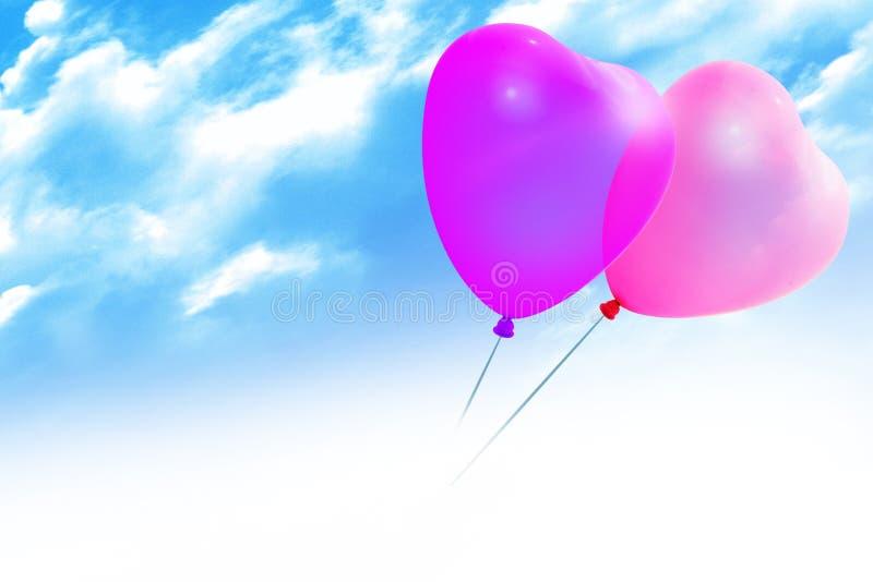 kulör hjärtaform för ballonger royaltyfri bild