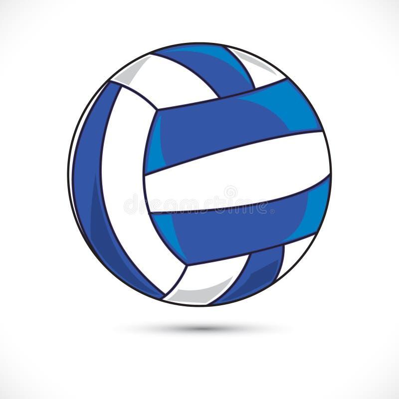 Kulör illustration för boll för Vollyball vektorsport Konst för gem för sportvollyballvektor på vit bakgrund vektor illustrationer