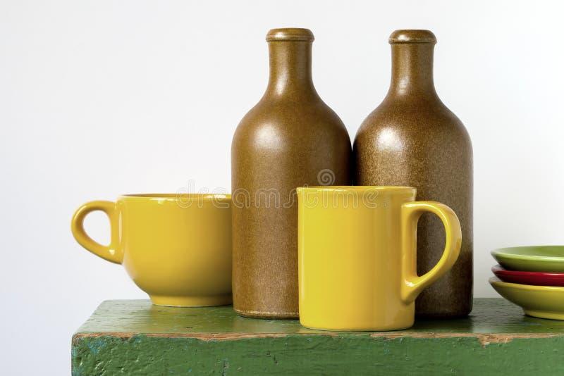 Kulör keramik arkivfoto