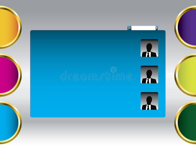 kulör mallrengöringsduk stock illustrationer