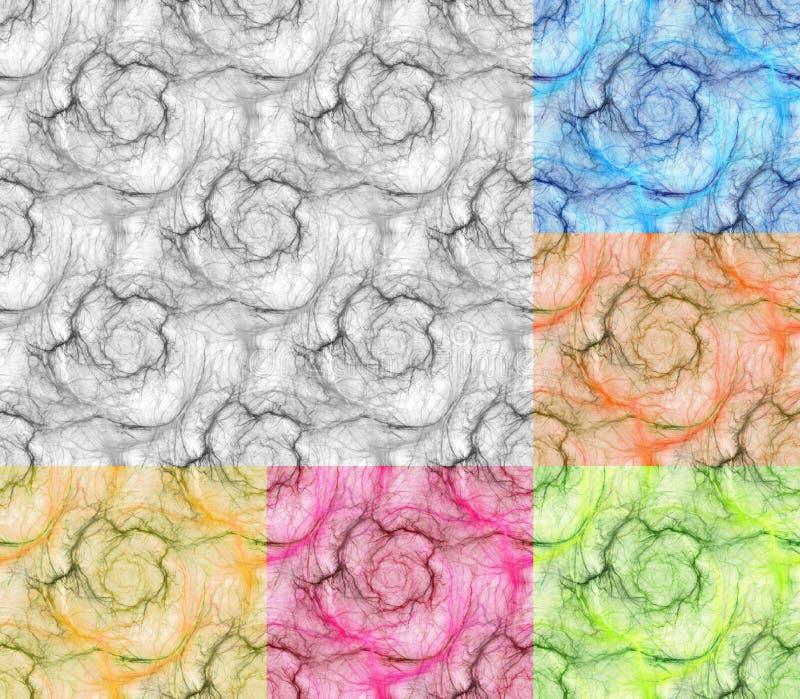 kulör pastell för bakgrund Mjuk blyertspennateckning av den sömlösa modellen för plasmaboll royaltyfri illustrationer