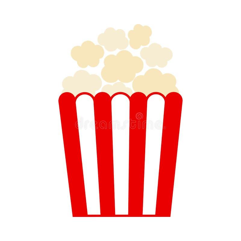 Kulör popcornsymbol också vektor för coreldrawillustration royaltyfri illustrationer