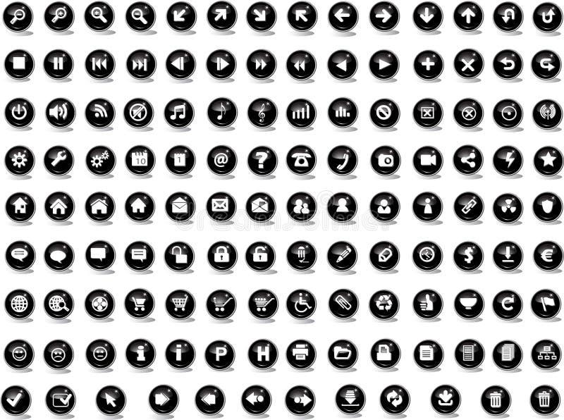 kulör rengöringsduk för knappar vektor illustrationer