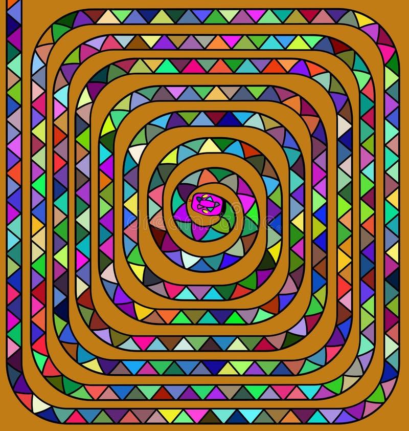 Kulör spiral orm stock illustrationer