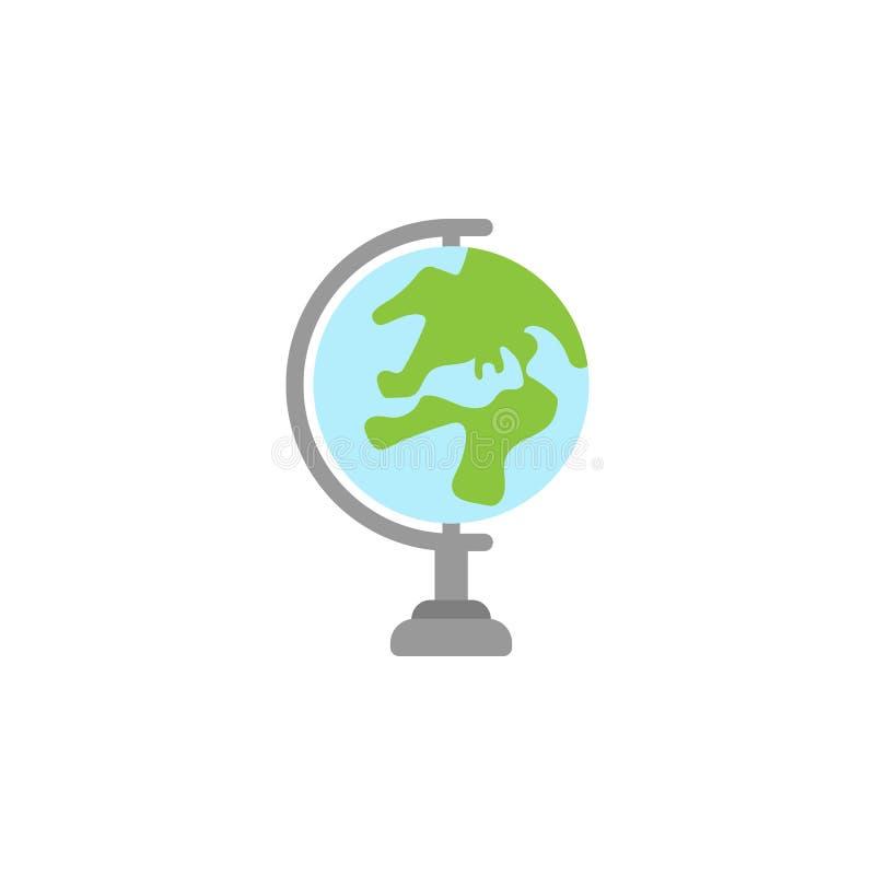kulör symbol för jordjordklot Beståndsdel av utbildningsillustrationsymbolen H?gv?rdig kvalitets- grafisk design Tecken och symbo royaltyfri illustrationer