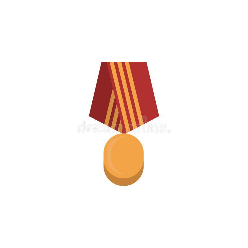 kulör symbol för medalj Färgad beståndsdel av kriget, pansarillustration Högvärdig kvalitets- symbol för grafisk design Tecken oc stock illustrationer