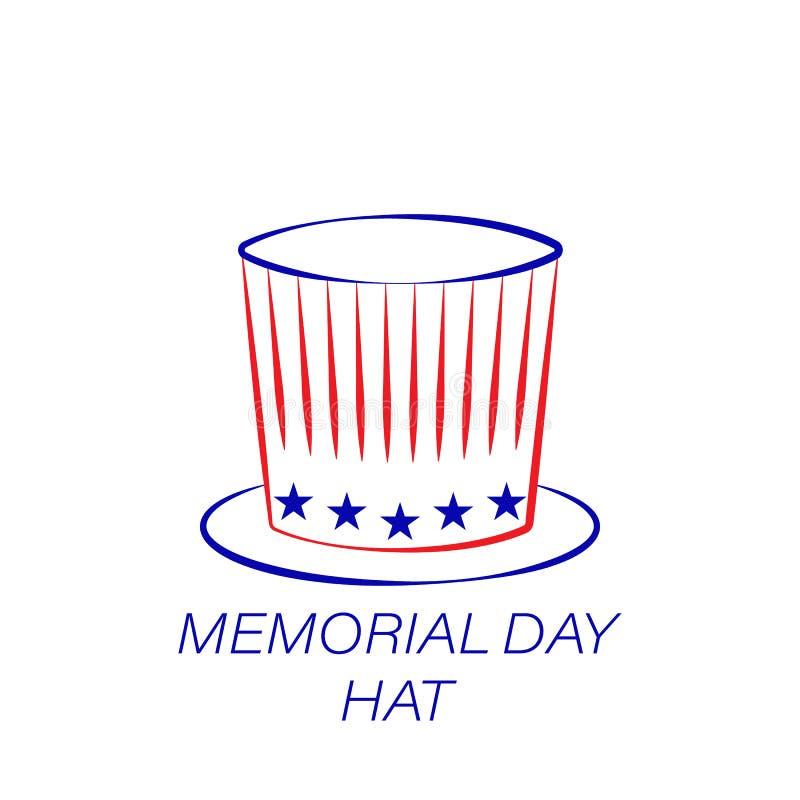 Kulör symbol för minnesdagenhatt Beståndsdel av minnesdagenillustrationsymbolen r vektor illustrationer