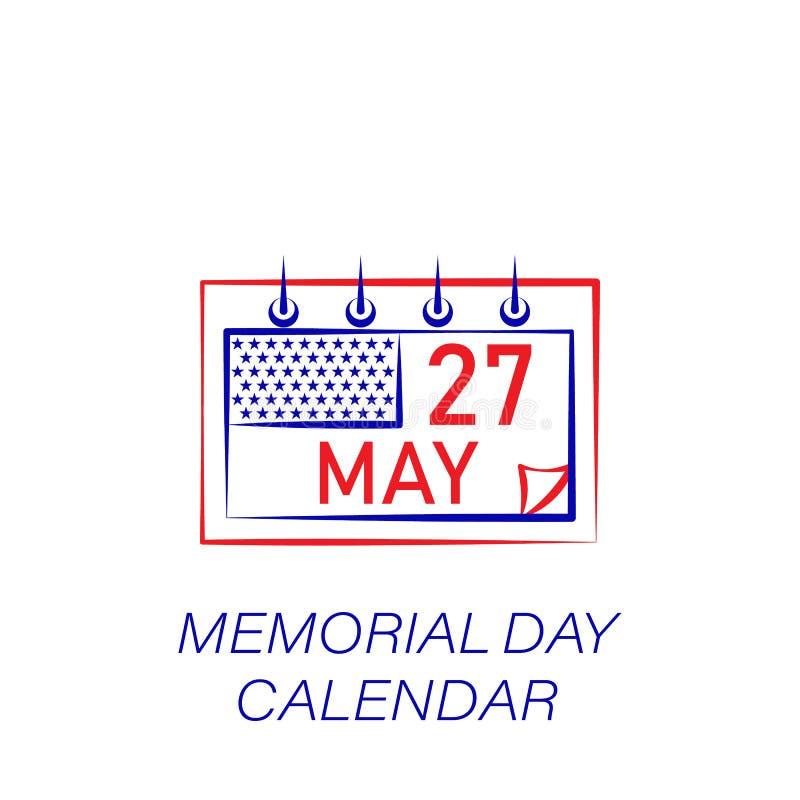 Kulör symbol för minnesdagenkalender Beståndsdel av minnesdagenillustrationsymbolen r royaltyfri illustrationer