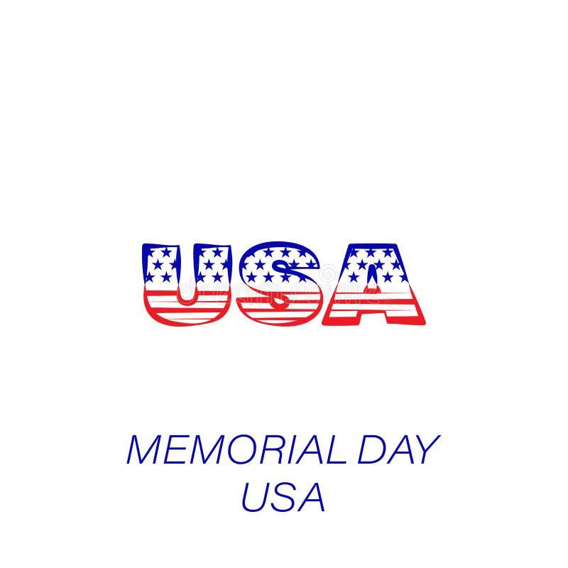 Kulör symbol för minnesdagenUSA Beståndsdel av minnesdagenillustrationsymbolen r royaltyfri illustrationer