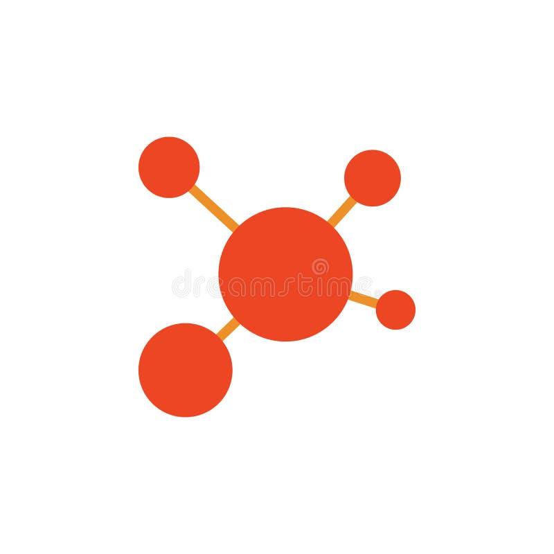 kulör symbol för molekylar Beståndsdel av skolasymbolen för mobila begrepps- och rengöringsdukapps Den detaljerade molekylsymbole stock illustrationer