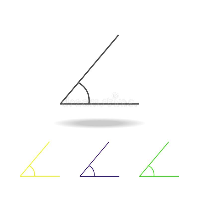 kulör symbol för skarpt hörn Kan användas för rengöringsduken, logoen, den mobila appen, UI, UX royaltyfri illustrationer