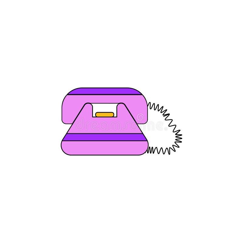 Kulör symbol för tecknad filmtelefonleksak Tecknet och symboler kan användas för rengöringsduken, logoen, den mobila appen, UI, U royaltyfri illustrationer
