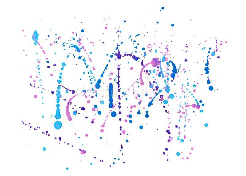 Kulör vattenfärgfärgstänk på en vit bakgrund vektor illustrationer