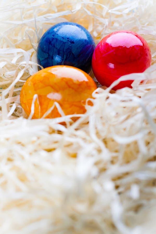 Kulöra ägg för påsk royaltyfri bild