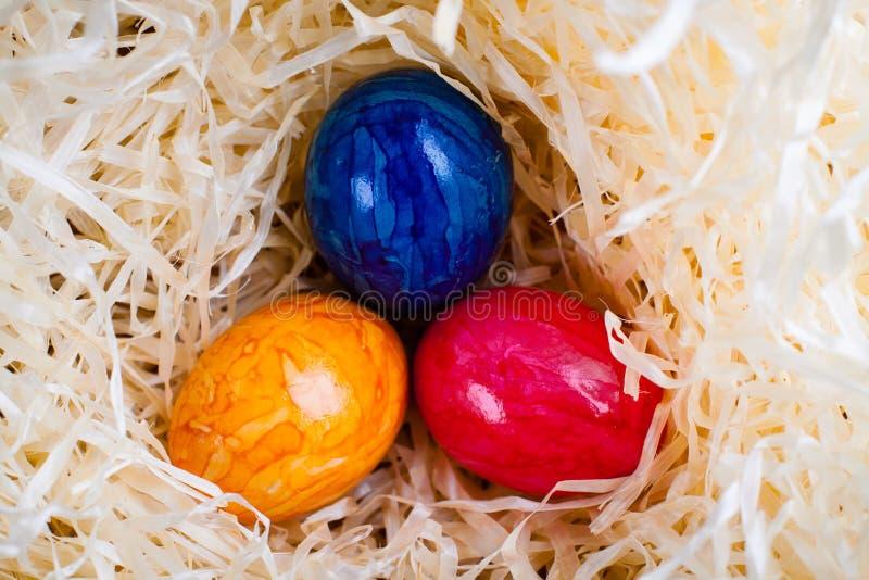 Kulöra ägg för påsk fotografering för bildbyråer