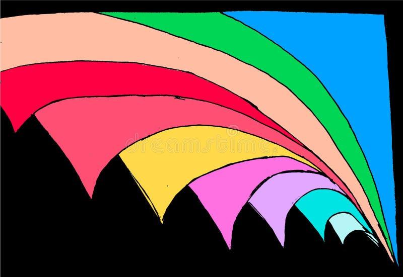Kulöra abstrakta geometriska diagram - roterande sida i utrymme vektor illustrationer